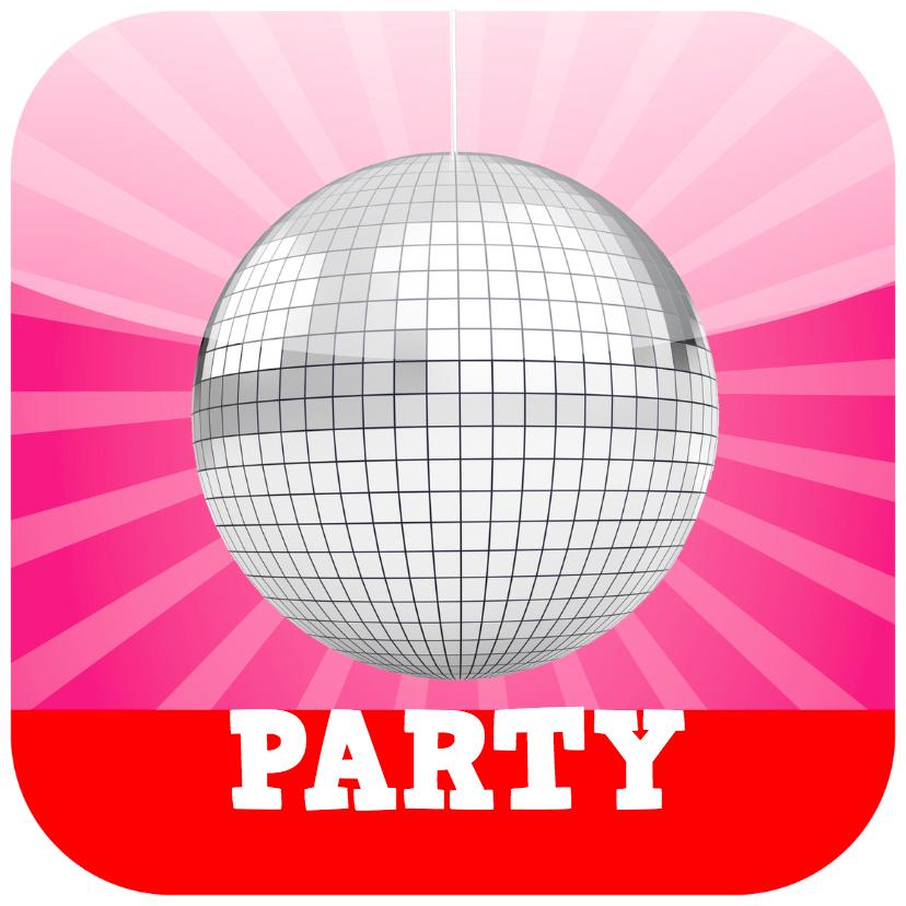 Uitnodigingen - Applicatiekaart Party