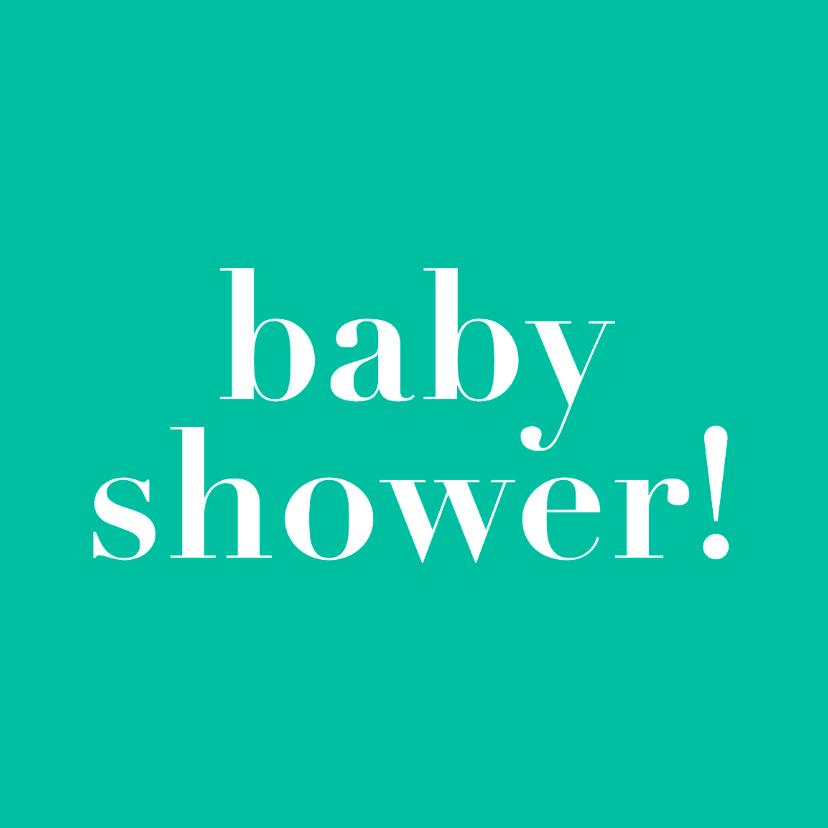 Uitnodigingen - Baby shower, groene kaart