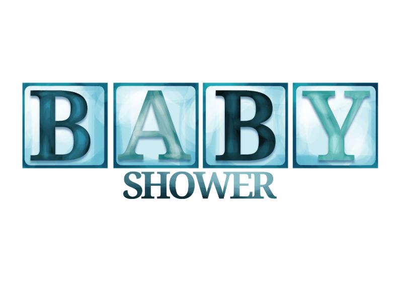 Uitnodigingen - Babyshower blokletters - jongen
