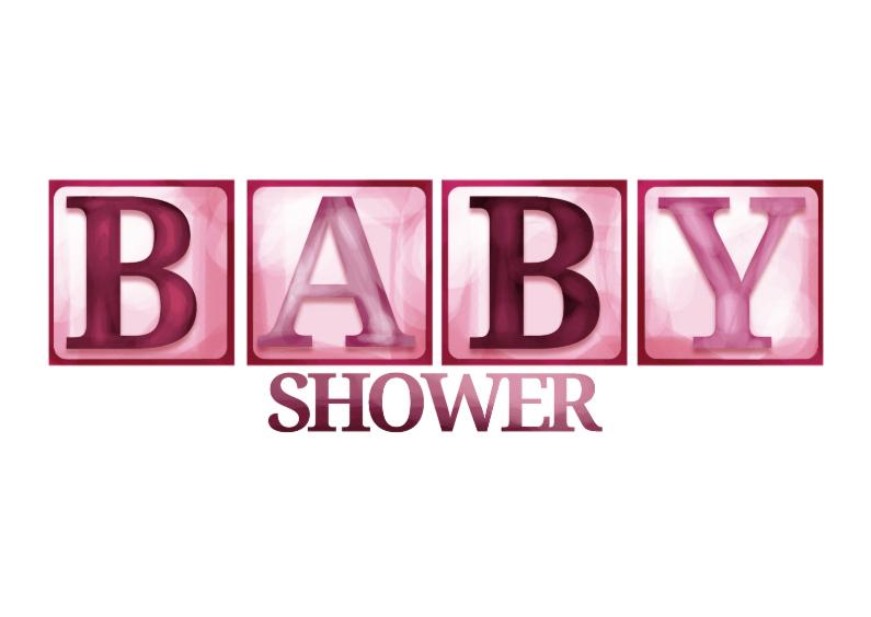 Uitnodigingen - Babyshower blokletters - meisje