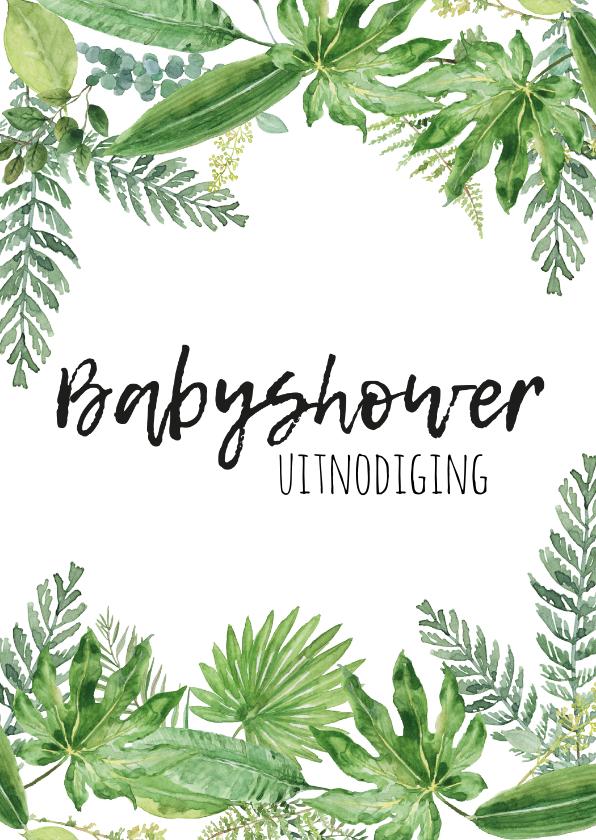 Uitnodigingen - Babyshower uitnodiging | Botanisch