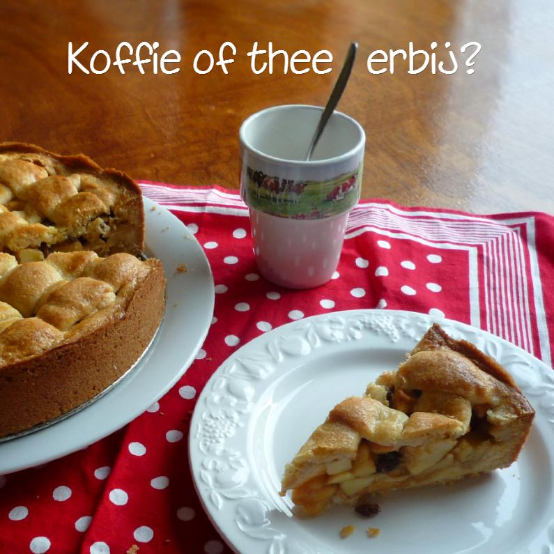 Uitnodigingen - bakkie koffie of thee en appeltaart