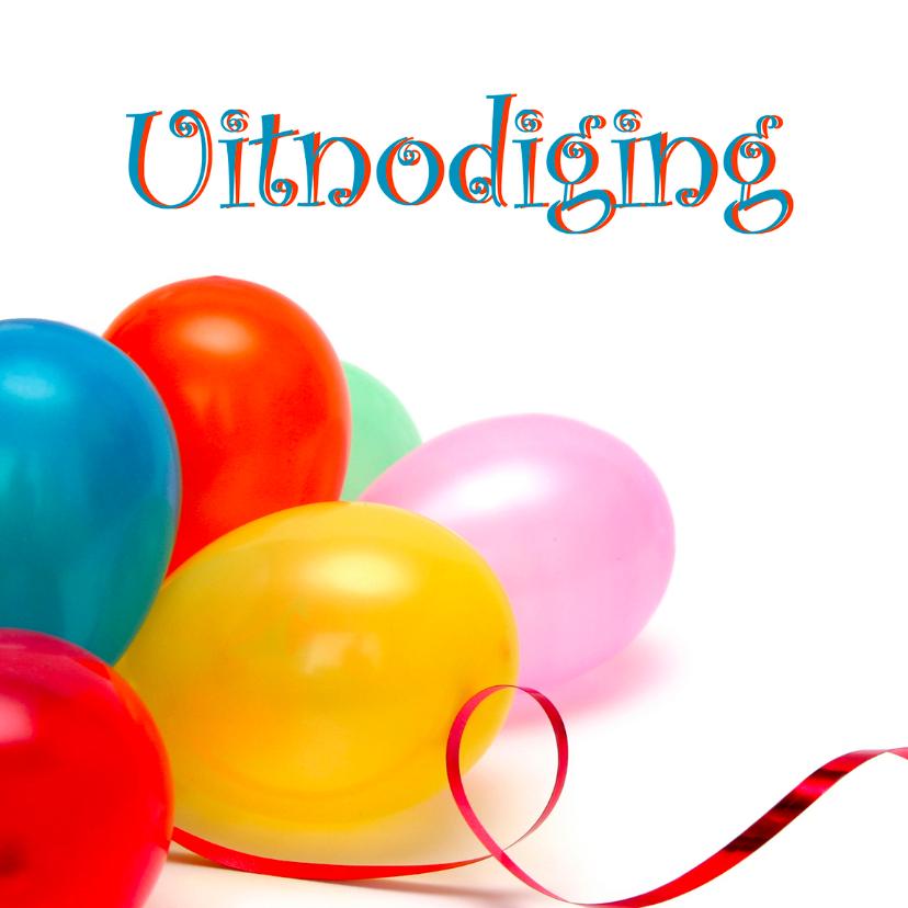 Uitnodigingen - Ballonnen uitnodiging