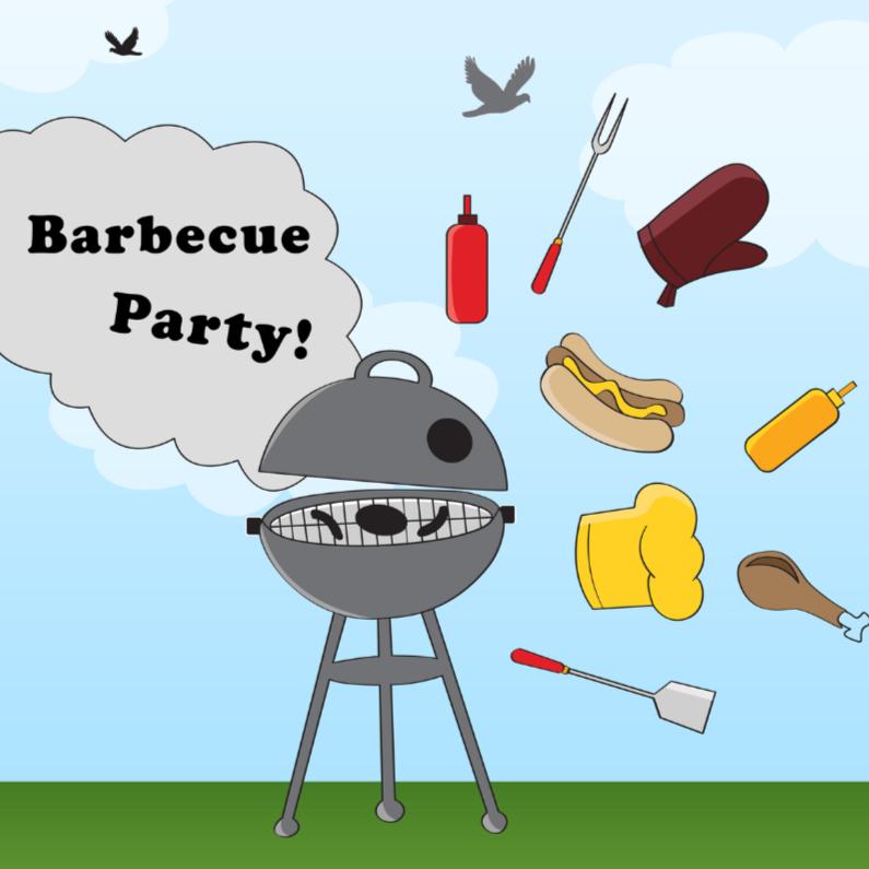 Uitnodigingen - Barbecue party