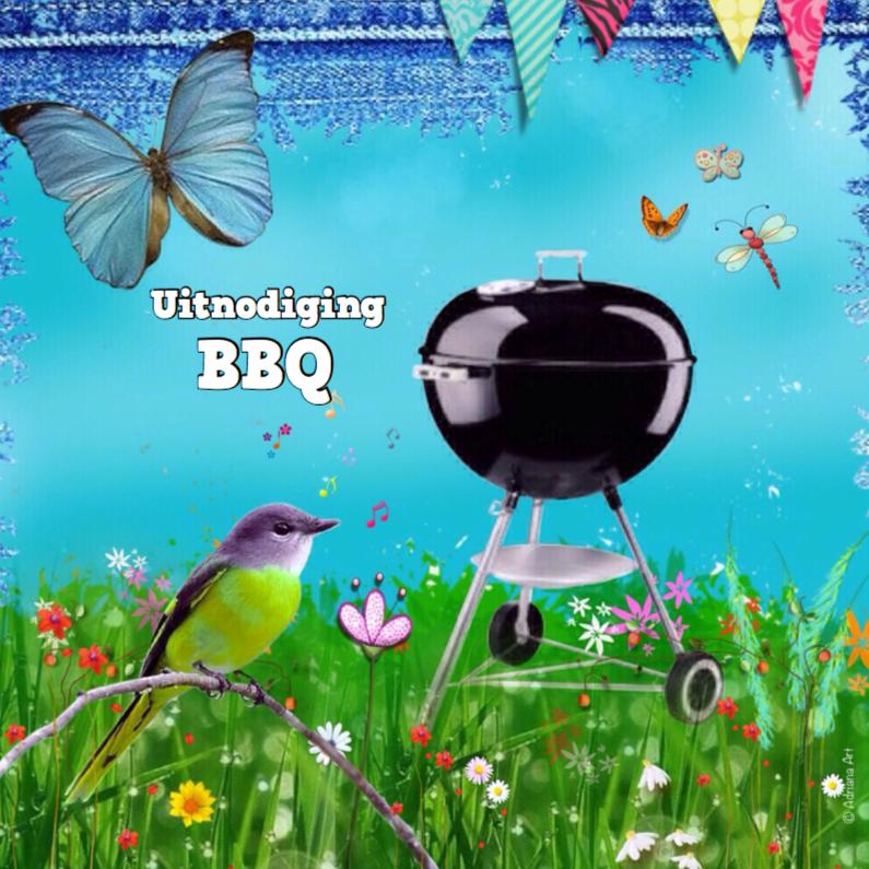 Uitnodigingen - BBQ mixed media uitnodiging