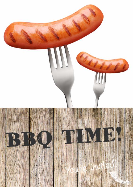 Uitnodigingen - BBQ Time Uitnodiging
