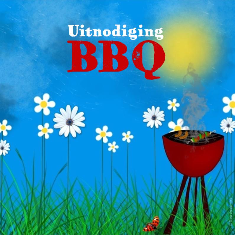 Uitnodigingen - bbq uitnodiging