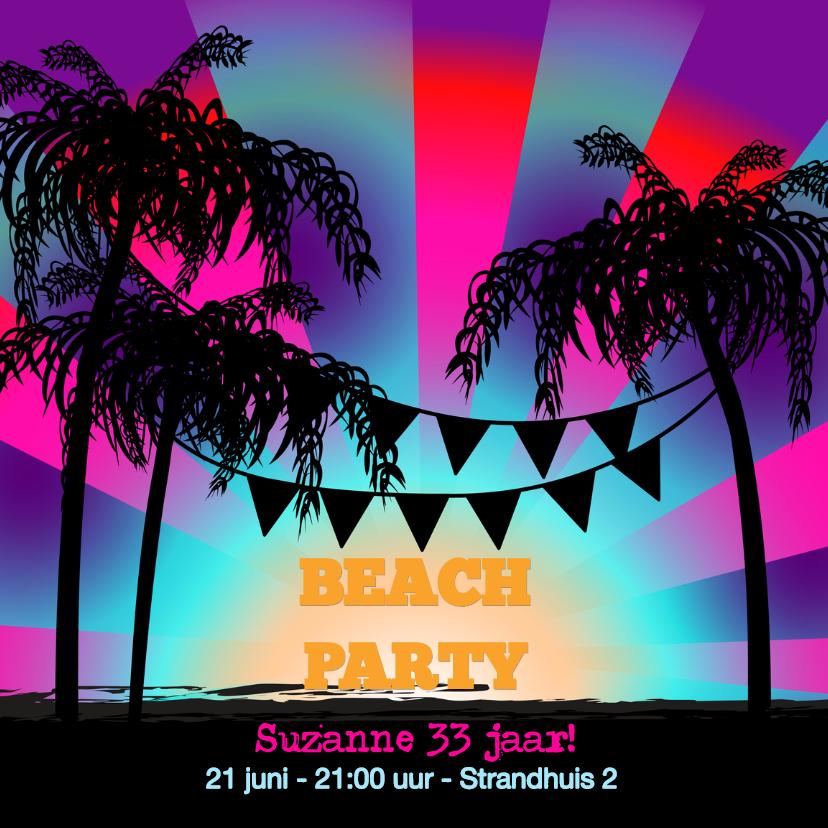 Uitnodigingen - BEACH PARTY uitnodiging