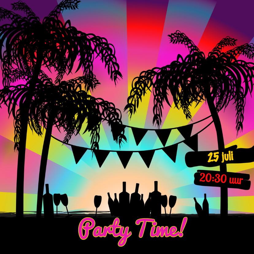 Uitnodigingen - BEACHE PARTY uitnodiging