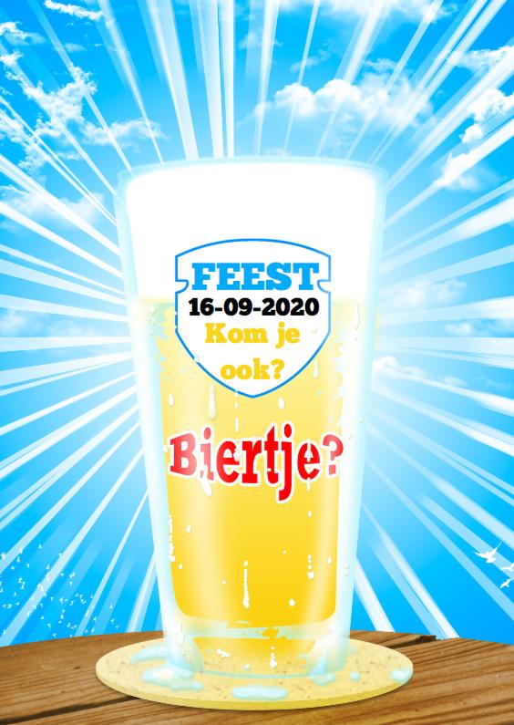 Uitnodigingen - Bier feest zomer fris a retro