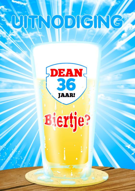 Uitnodigingen - Bier feest zomer fris b