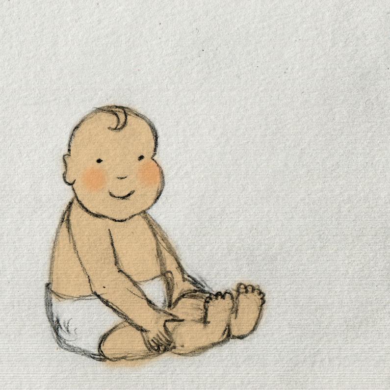 Uitnodigingen - Blije baby