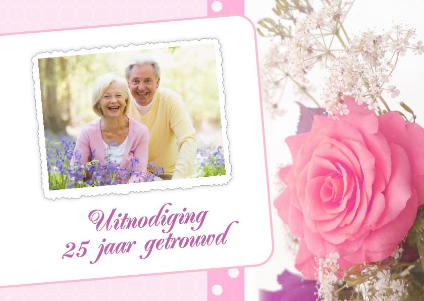 Uitnodigingen - Bloemenkaart roos - BK