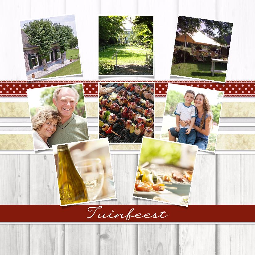 Uitnodigingen - Collagekaart Tuinfeest - BK