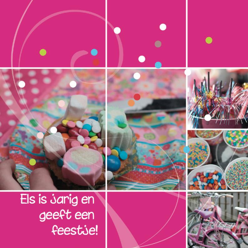 Uitnodigingen - Confetti verjaardag uitnodiging