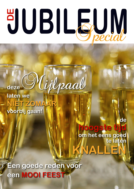 Uitnodigingen - Cover Jubileum 1 - Champagne - OT
