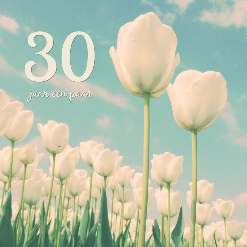 Uitnodigingen - De twee tulpen