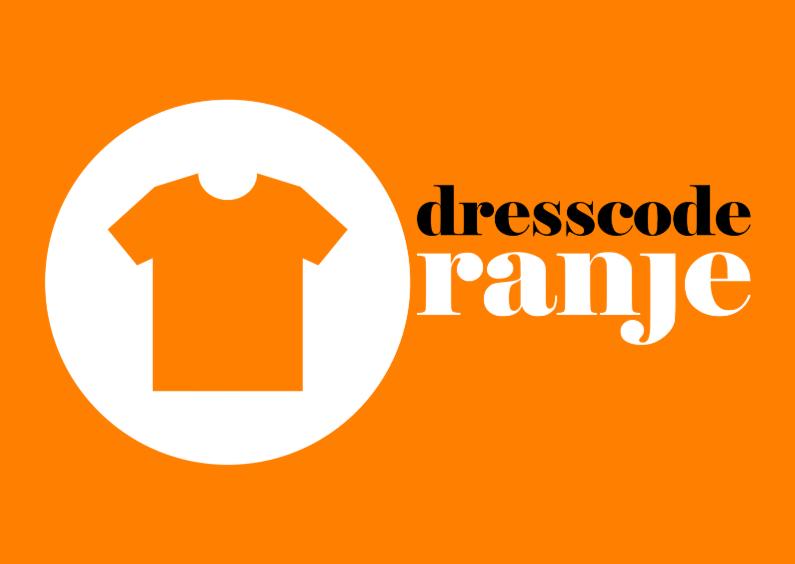 Uitnodigingen - dresscode oranje