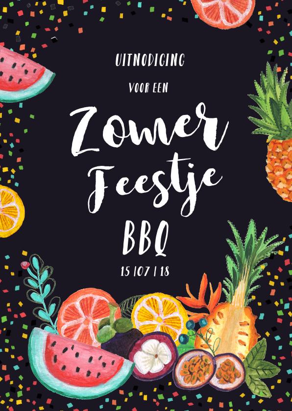 Uitnodigingen - Een tropische uitnodiging voor een BBQ of tuinfeestje