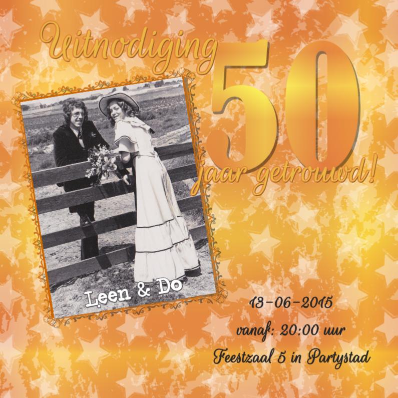 Uitnodigingen - Feest! 50 jaar getrouwd! goud!