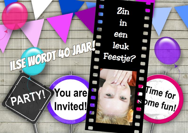 Uitnodigingen - Feest dia zelf invullen 2