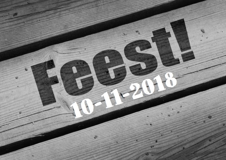 Uitnodigingen - Feest houten vloer