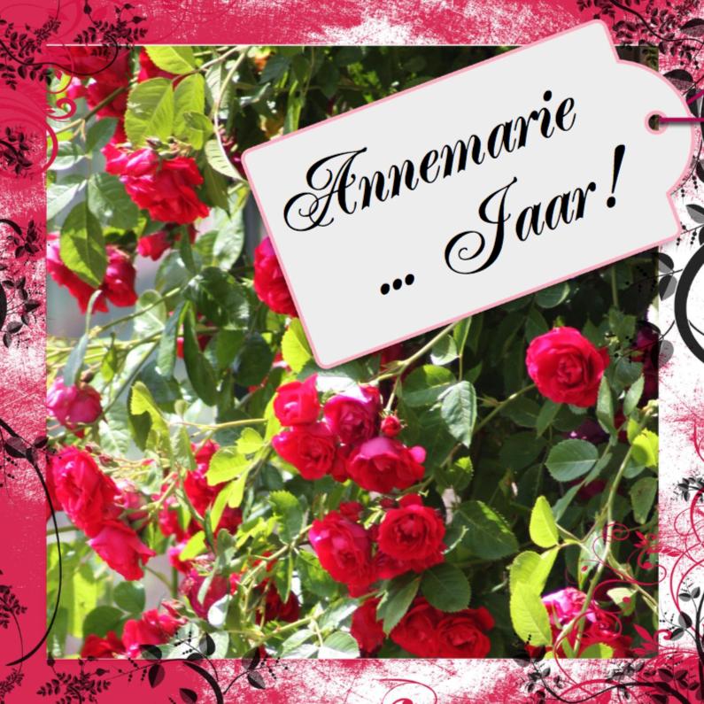 Uitnodigingen - feest rozen en naamkaartje b