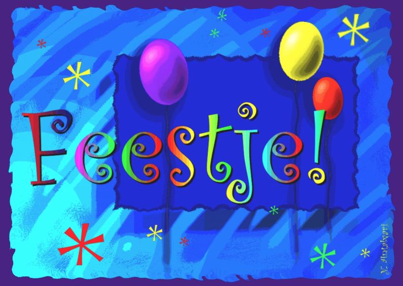 Uitnodigingen - Feestballon