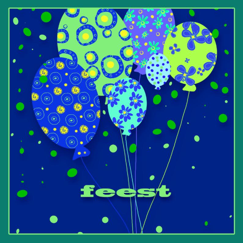 Uitnodigingen - Feestelijk met ballonnen