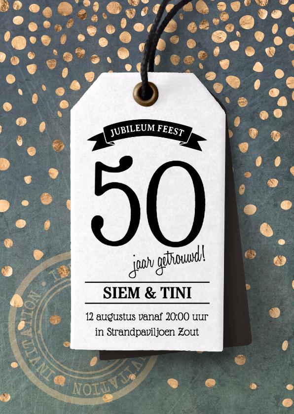 Uitnodigingen - Feestelijke uitnodiging huwelijksjubileum