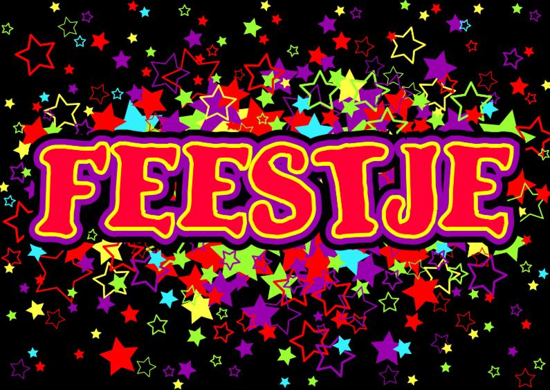 Uitnodigingen - FEESTJE stoere uitnodiging met sterren