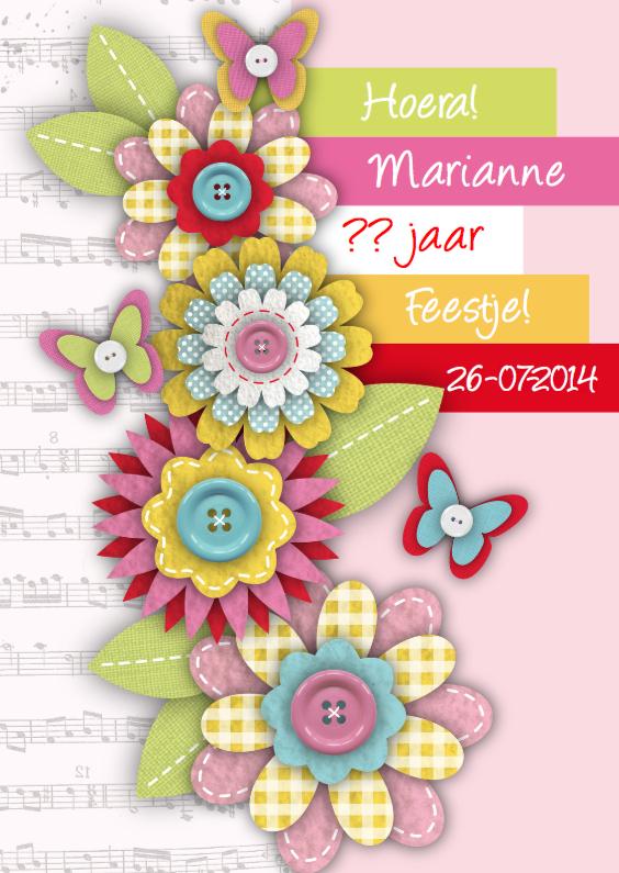 Uitnodigingen - Feestje Verjaardag Sweet Flowers