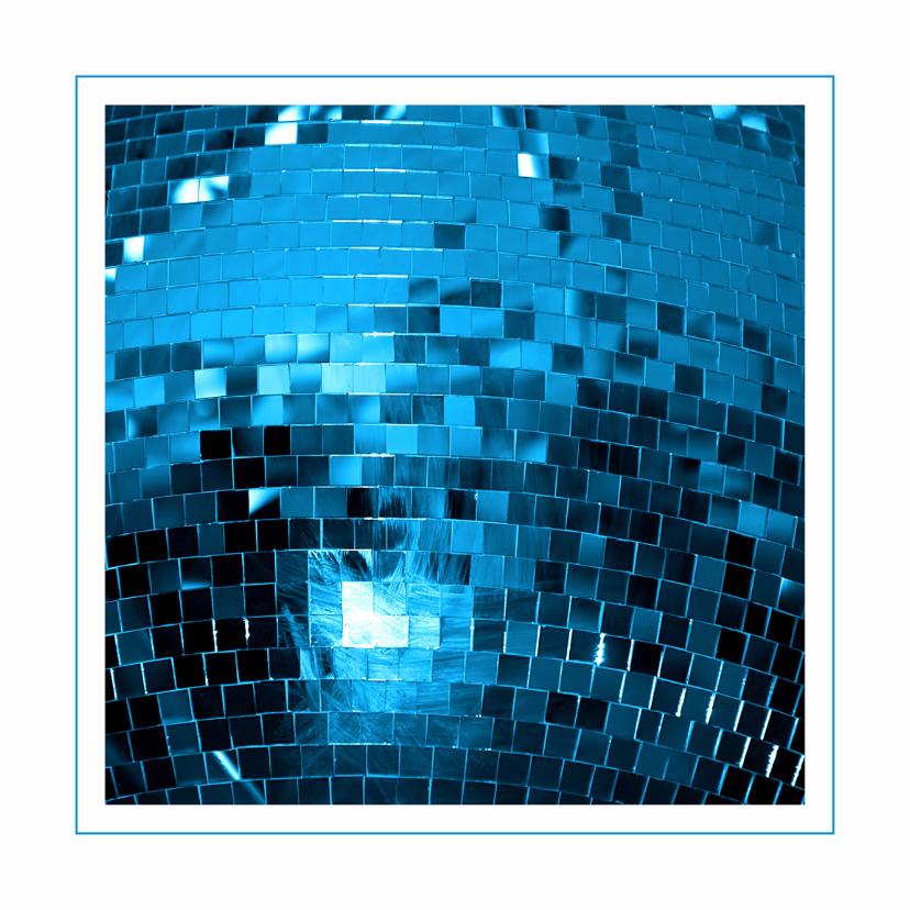 Uitnodigingen - Feestkaart discobal