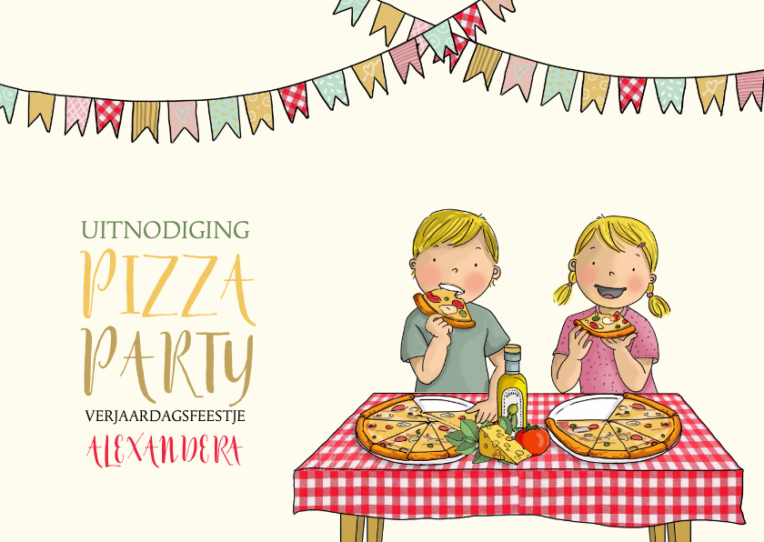 Flip en Anke pizza Anet Illustraties 1