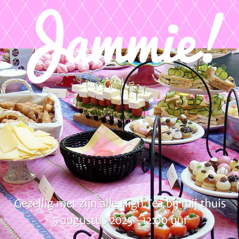 Uitnodigingen - Foto 4kant High Tea - BK