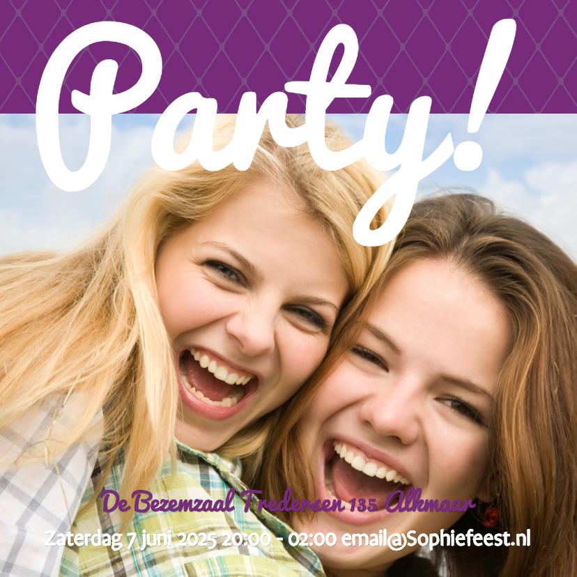 Uitnodigingen - Foto 4kant Party - BK