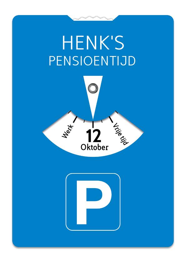Uitnodigingen - Grappige uitnodiging  parkeerkaart voor je pensioen