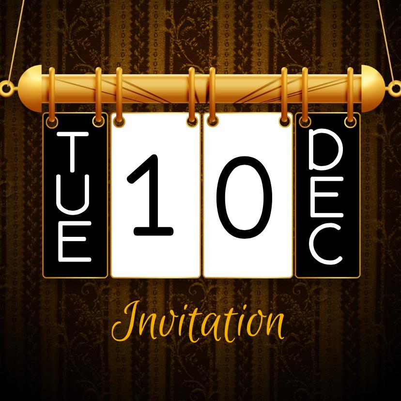 Uitnodigingen - Hangkalender vervang datum f