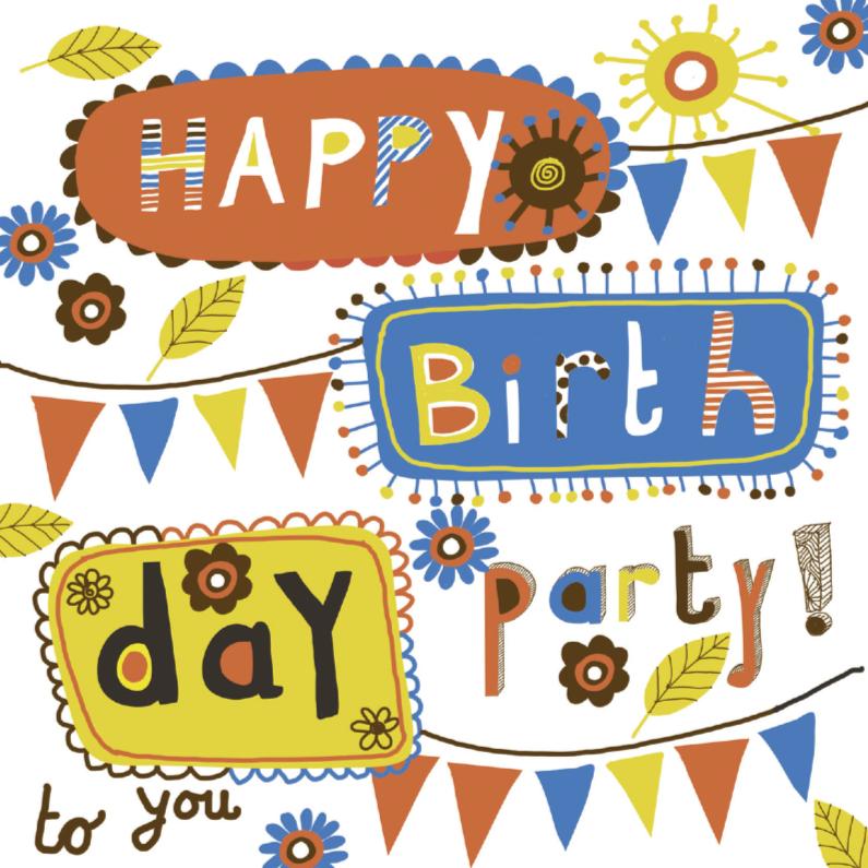 Uitnodigingen - happy Birthtday party uitnodiging