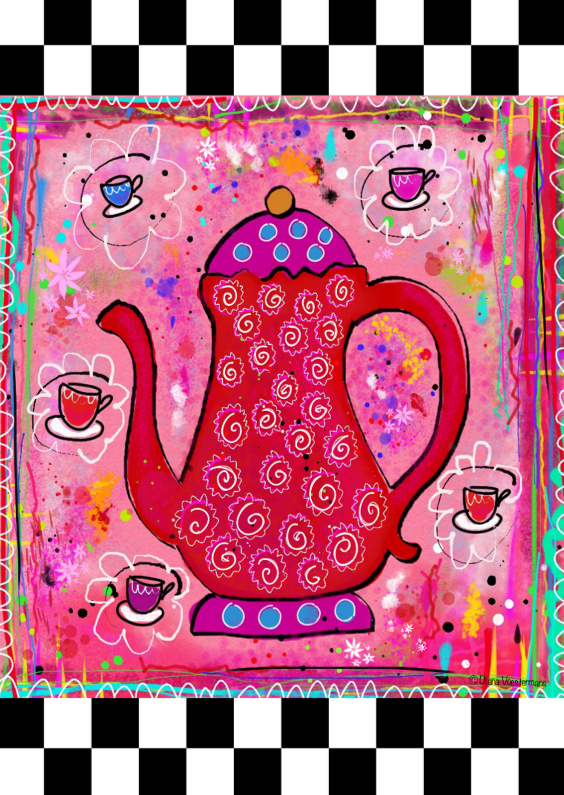 Uitnodigingen - High Tea kleurrijk en zwart wit