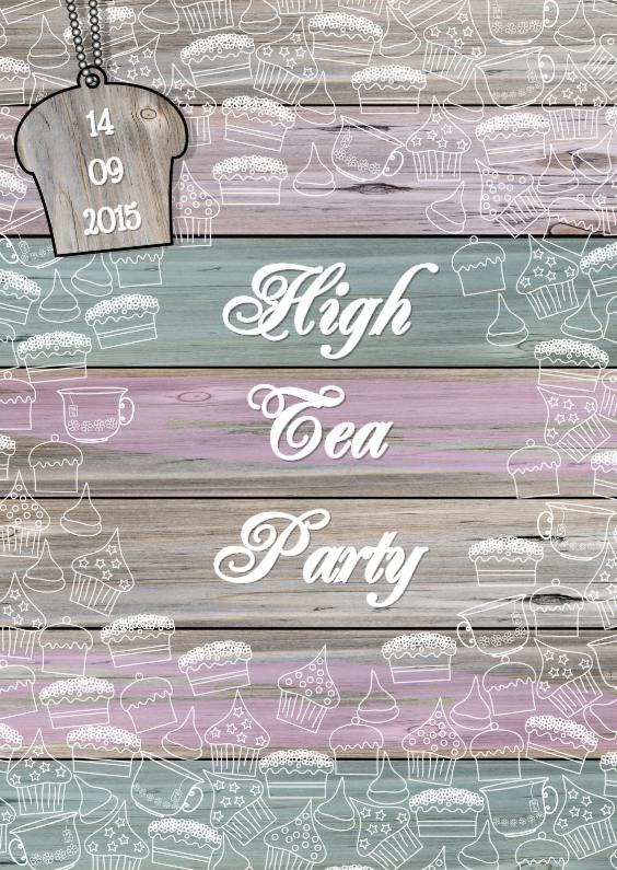 Uitnodigingen - High Tea Party THEE en TAART