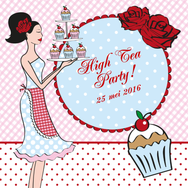 Uitnodigingen - High Tea Party