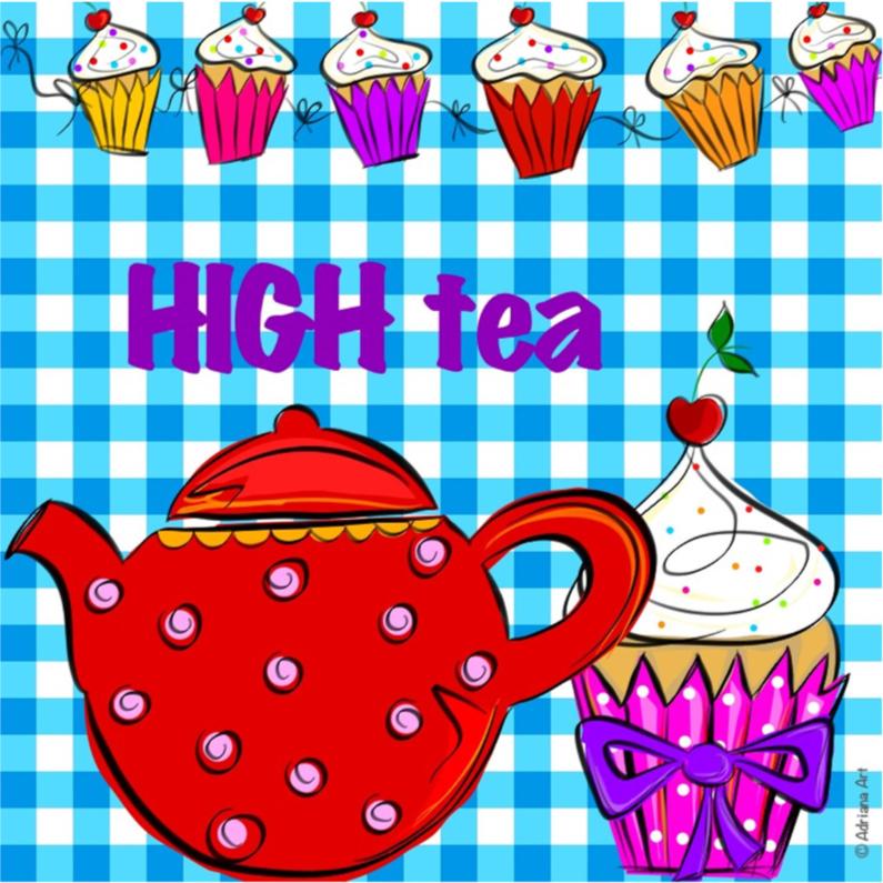 Uitnodigingen - High Tea ruitjes ll