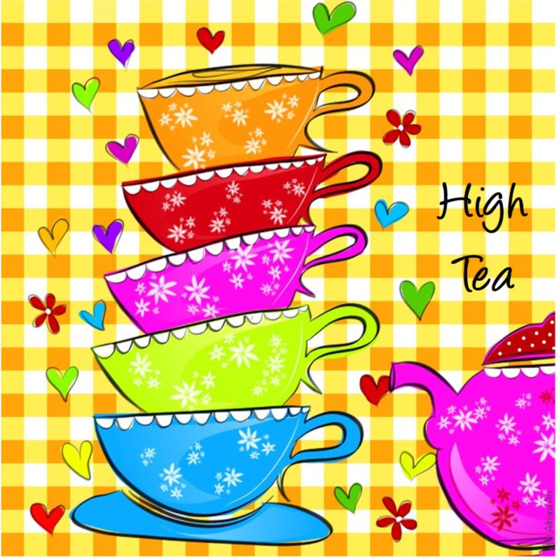 Uitnodigingen - High Tea ruitjes lll