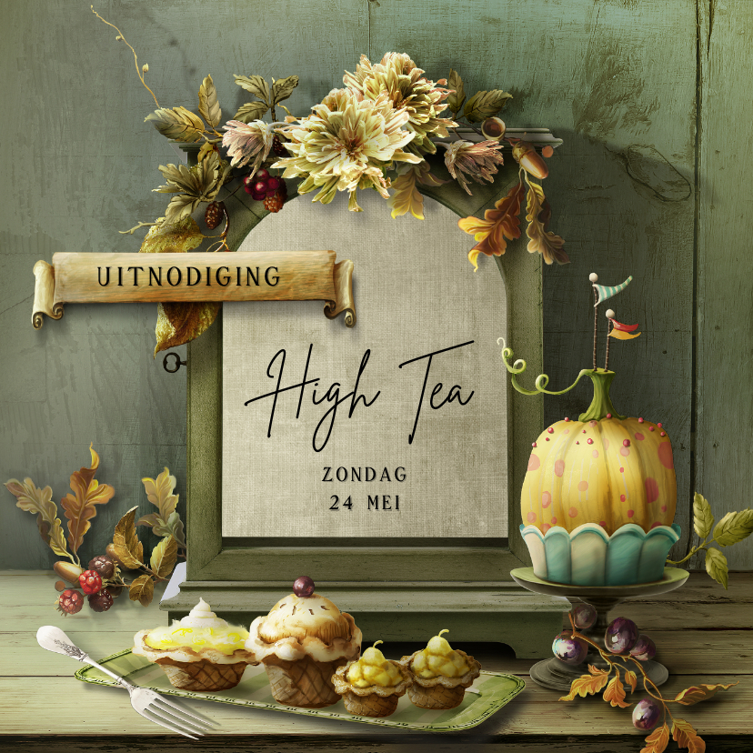 Uitnodigingen - High Tea scrapbook 6