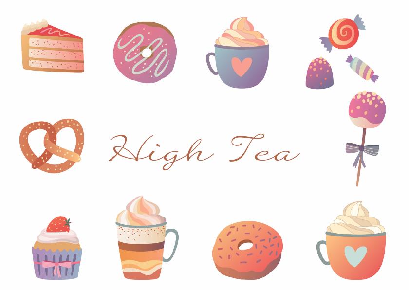 Uitnodigingen - High Tea uitnodiging - DH
