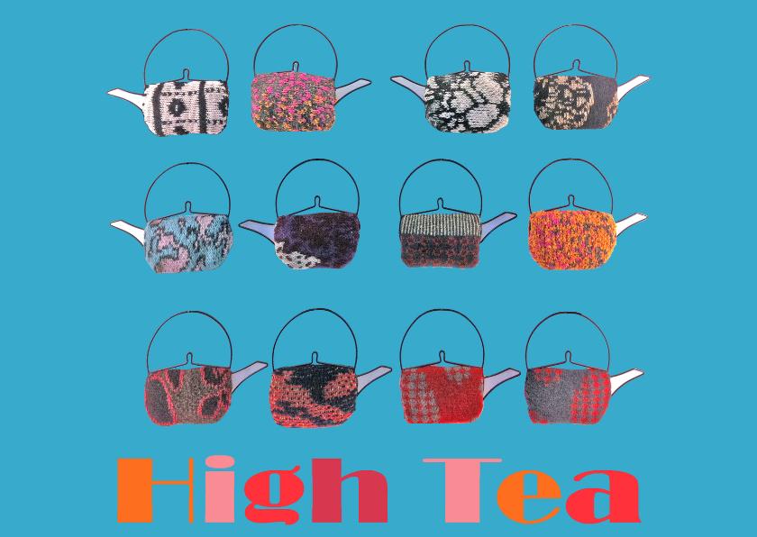 Uitnodigingen - High Tea uitnodiging met Thee potten