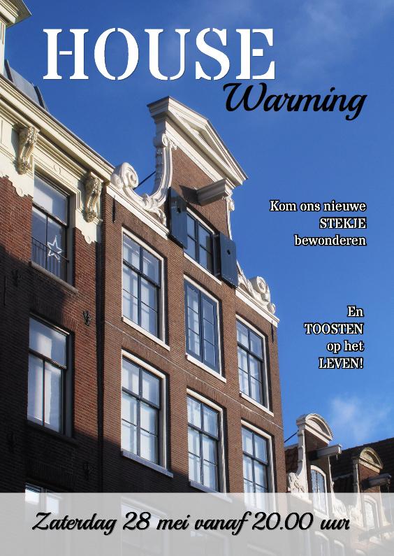 Uitnodigingen - Housewarming - eigen foto huis - OT