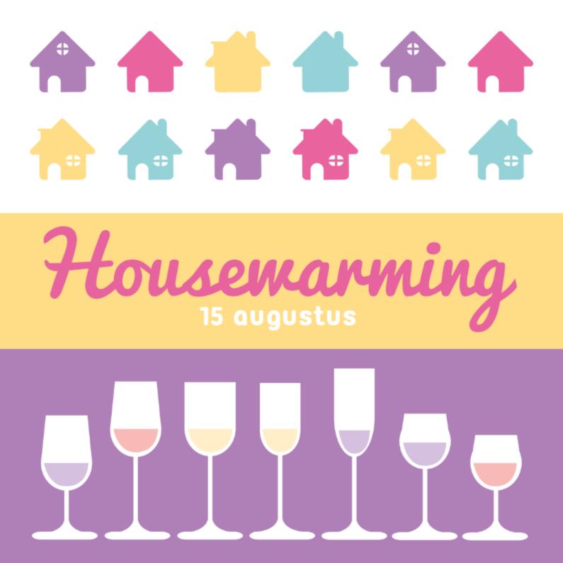 Uitnodigingen - Housewarming glas 3