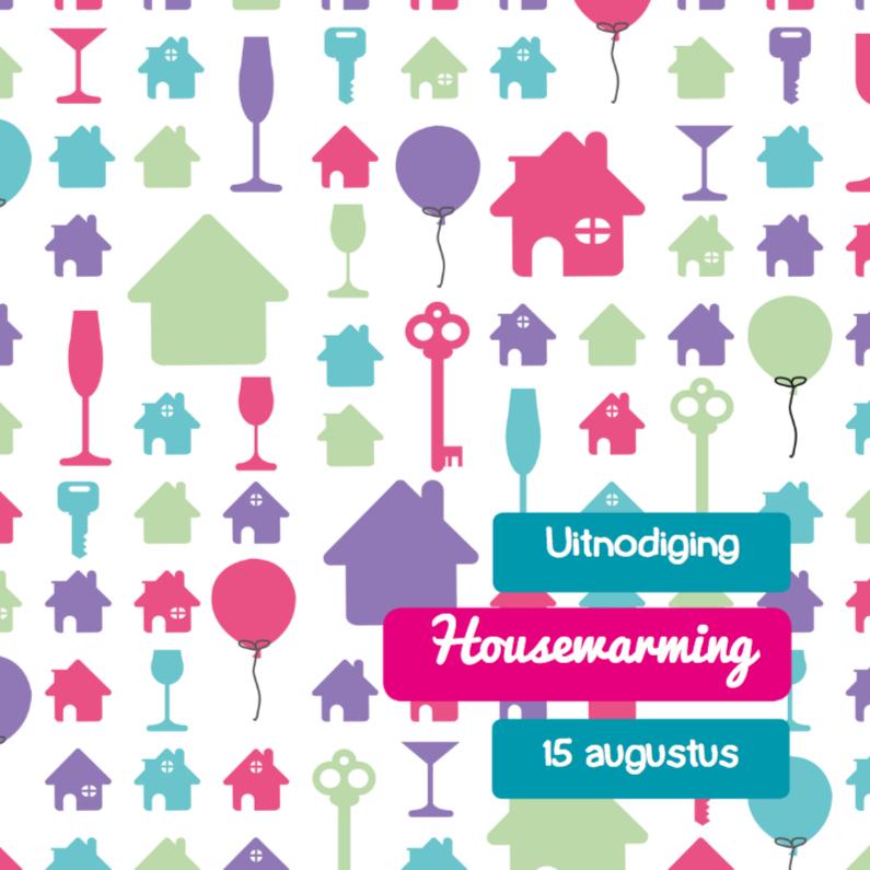 Uitnodigingen - Housewarming huis 3